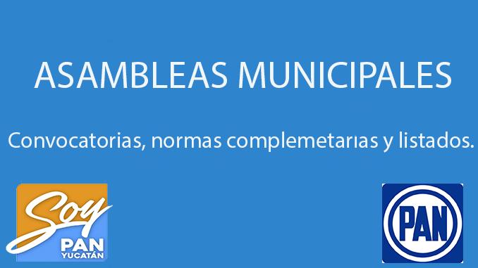 CONVOCATORIA ASAMBLEAS MUNICIPALES