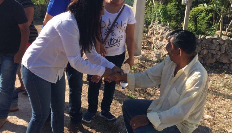 Caminatas en Chichimilá y Chemax De la candidata Rosalba Centeno de XI distrito local