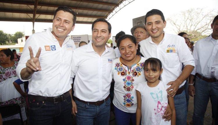 Reunión del Candidato Mauricio Vila con Diego Ávila por Tekax y Roberto Tolosa por el XII distrito local